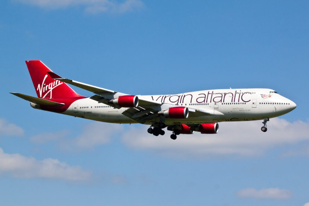Virgin Atlantic aeroplane